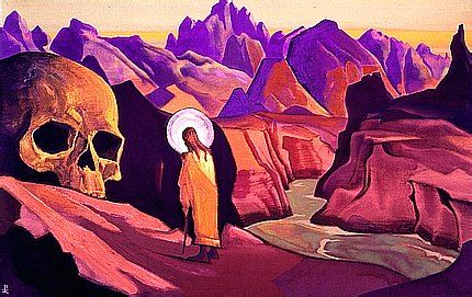 :: Nicholas Roerich :Issa and the skull of the Giant