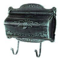 "Special Lite Floral Cast Aluminum Horizontal Wall Mount Mailbox, Black by Special Lite. $100.80. Newspaper hooks included, not requierd for use.. Dimensions: 12-3/4"" High, including the newspaper hooks x 17"" Wide x 5"" Deep - approx 12 lbs.. Thick-wall die-cast aluminum construction.. 14 Finish choices - See the Color Choices tab below.. Floral pattern is cast into the chip-proof, powder-coat finish.. The traditional mailbox shape gets a fanciful upgrade with this Floral de..."