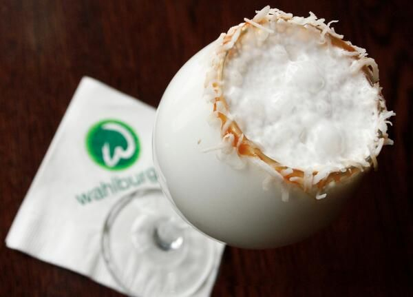 "Coconut Snowballs - coconut vodka, Malibu, milk, coconut rim. Num! #cocktails www.LiquorList.com ""The Marketplace for Adults with Taste!"" @LiquorListcom  #LiquorList"