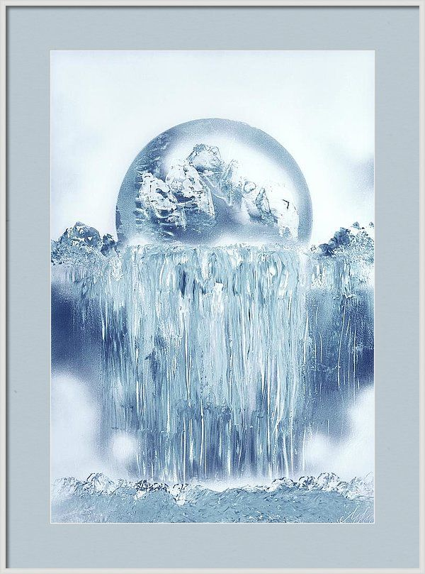 Featuring the painting Ice Waterfall by Nandor Molnar (When you visit the Shop, change the size, frame, mat, paper and finish as you wish)