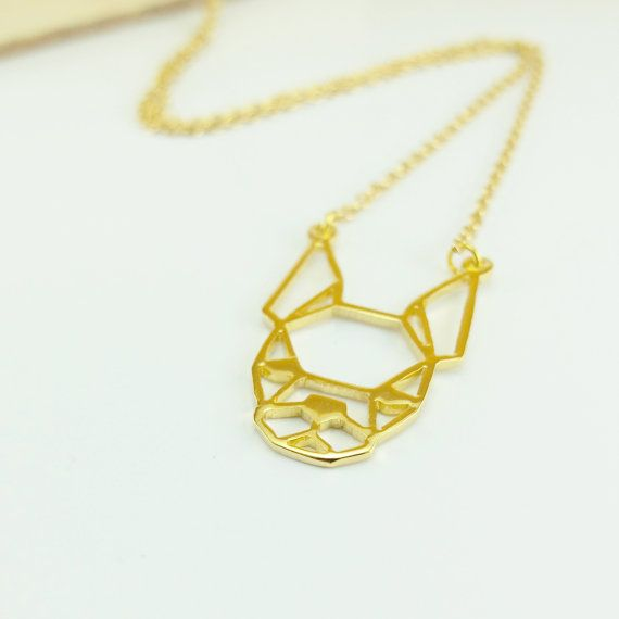 Boston terrier Dog face Necklace Boston terrier by glorikamishop