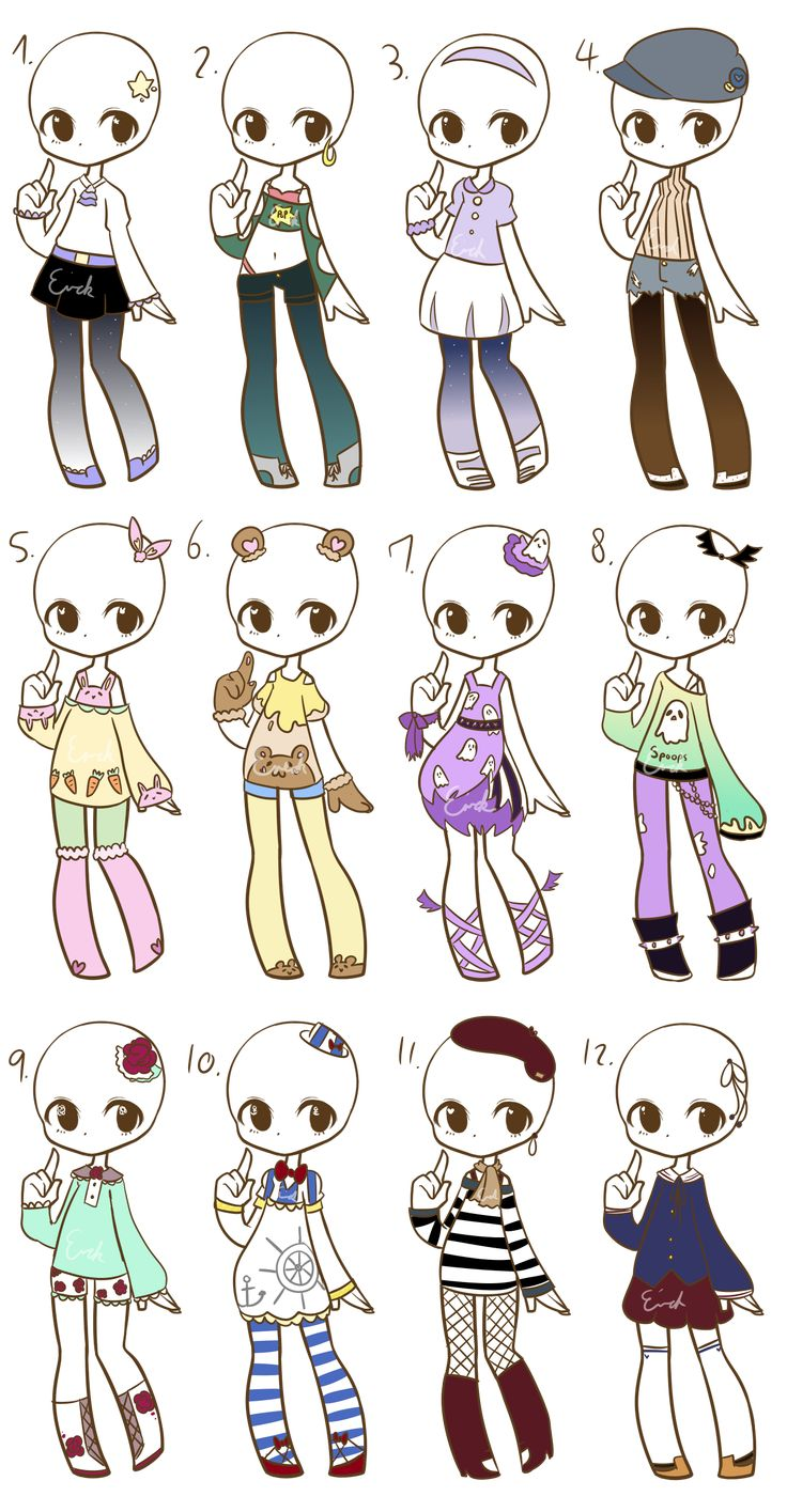 Outfit Adopts :closed: By Lukasbadoptsiantart On @deviantart