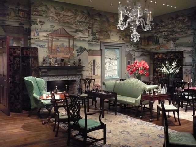 Chapter 13 colonial revival interior design chinese parlor winterthur museum 1930 for Interior design school wilmington nc