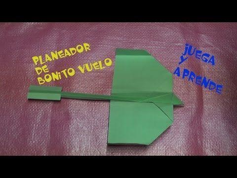 Planeador en papel que gira y gira en el aire - YouTube