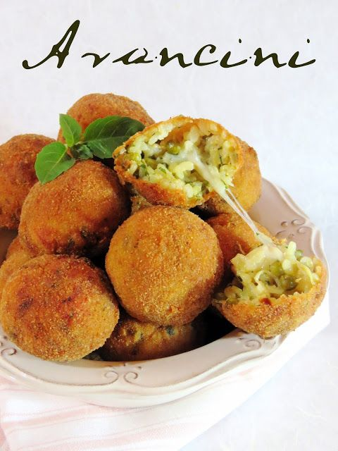 J'en reprendrai bien un bout...: Arancini... Mozzarella et Petits Pois
