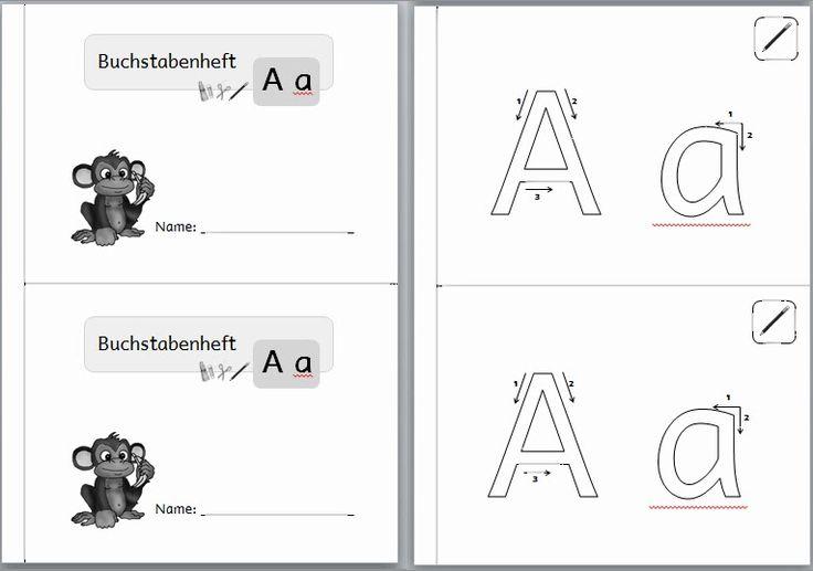 """Ich plane gerade Arbeitshefte zum Buchstabenerlernen - """"Buchstabenhefte""""  Für jeden Buchstaben soll es ein Heft geben und die gleichen Aufga..."""