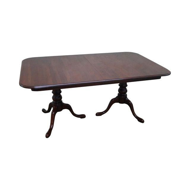 Image of Ethan Allen Georgian Court Solid Cherry Dining Table