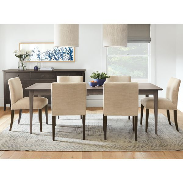 Room Board Adams Table And Cabinet In Charcoal Furniture Modern Dining Room Modern Dining Table