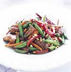pork stir-fry with green beans and peanuts picture