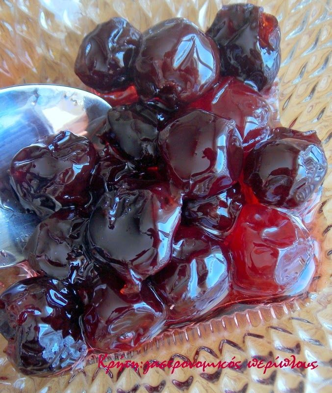 Κρήτη:γαστρονομικός περίπλους: Βύσσινο γλυκό του κουταλιού