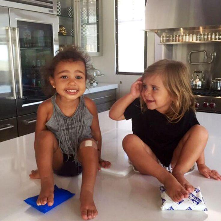 Kim Kardashian shares adorable Instagram photos of North West and Penelope Disick in honor of Penelope's birthday. - HarpersBAZAAR.com