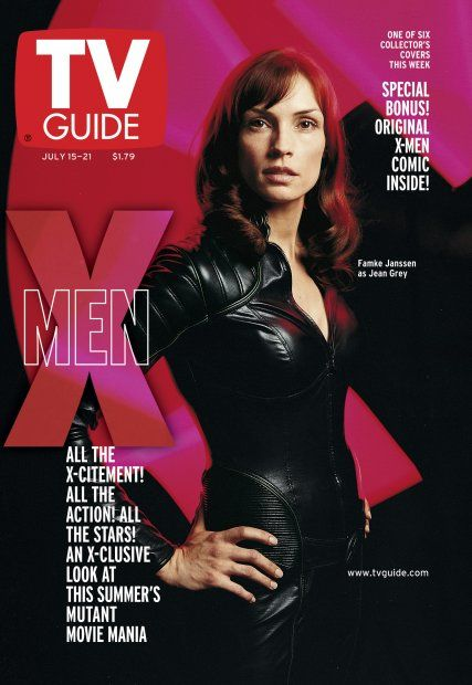 Famke Janssen as Jean Grey on the cover of TV Guide magazine, July 2000