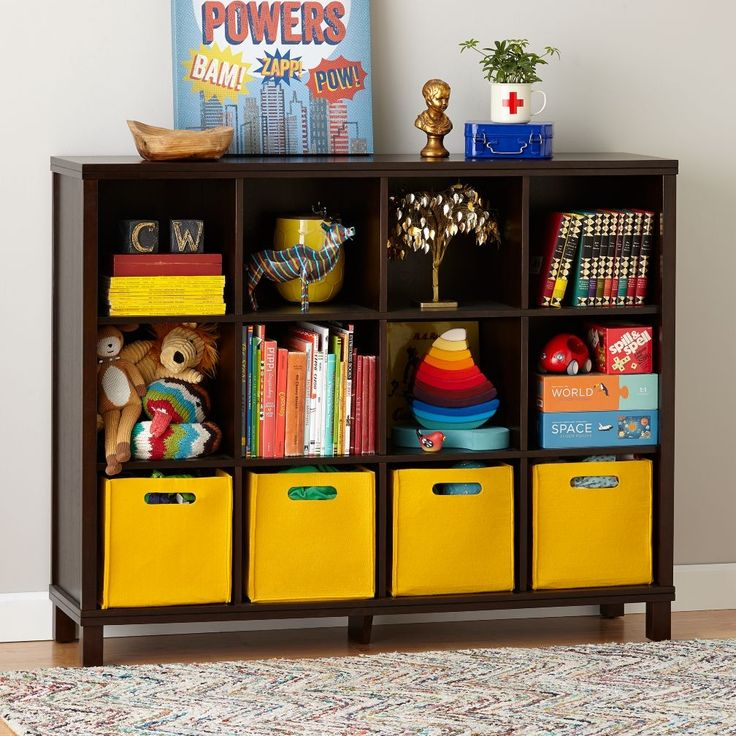 Black And Yellow Bookcases For Kids
