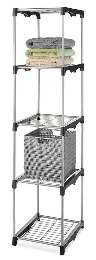 Closet Organizer Storage 5-Tier Rack Portable Clothes Hanger Home Garment Shelf #EssentialHome