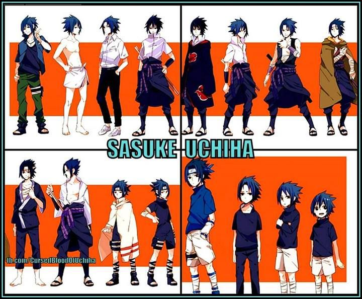 FACT: Sasuke has had more outfit changes than any other Naruto character in the series...even Naruto. And I'm ok with that -u- that just means more designs of him to love <3 -Dollsted