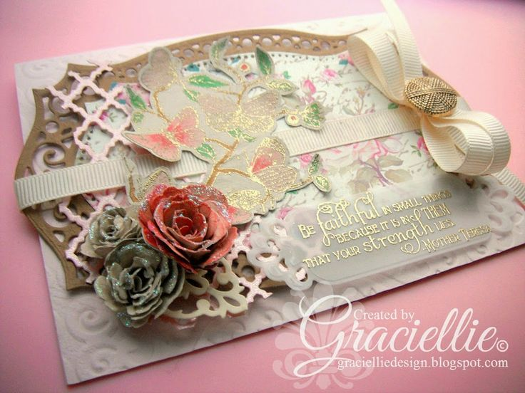 Graciellie Design - HIMCR DT #148, Our Daily Bread Designs, Haj Design paper, made with scraps, vintage, shabby chic, vellum, floral