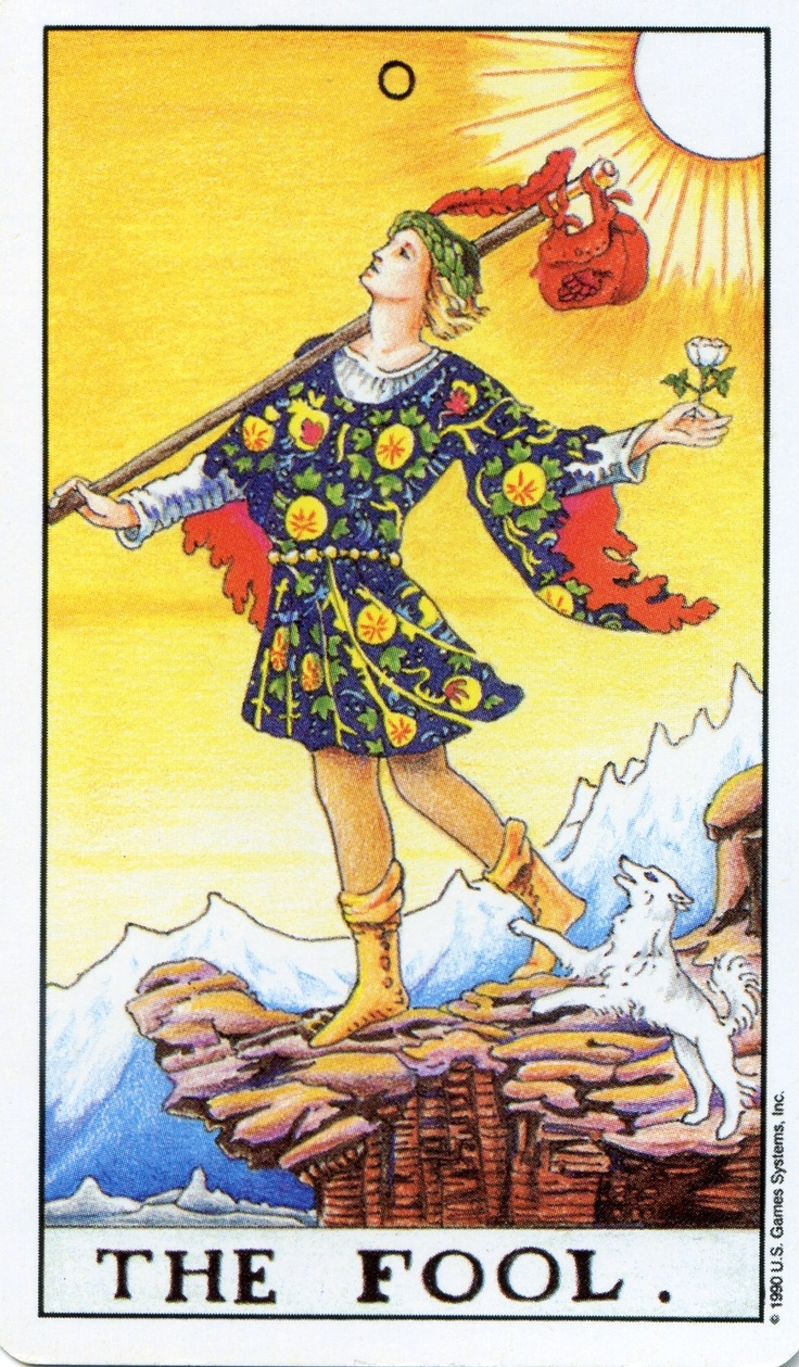 Fool From The Universal Waite Tarot: 78+ Images About Tarot -- The Fool On Pinterest