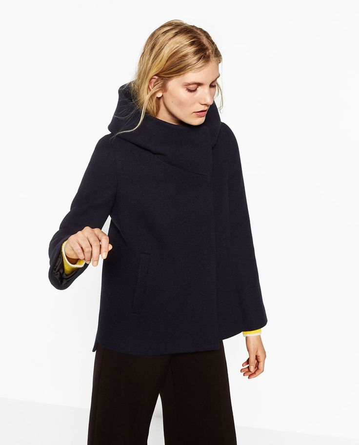 COAT WITH WRAPAROUND COLLAR-View All-OUTERWEAR-WOMAN-SALE | ZARA United States