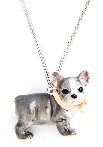 Bulldog in a China Shop Necklace From the Plus Size Fashion Community at www.VintageandCurvy.com