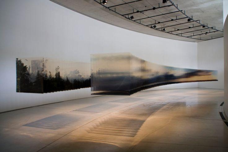 Tranches de paysages transparents paysage relief plaque transparente 06