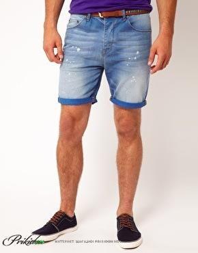 Модные мужские джинсовые шорты