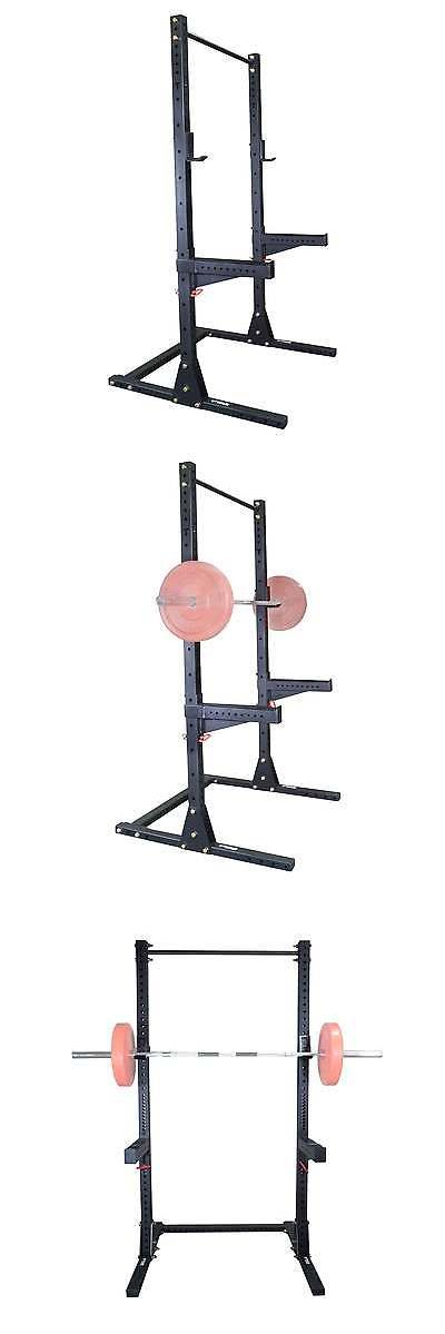 Power Racks and Smith Machines 179815: Titan X-3 Adjustable Squat Stand W Spotter Arms And Pull Up Bar 3 X 3 -> BUY IT NOW ONLY: $299 on eBay!