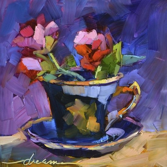 """""""A Cup of Goodness"""" 8"""" x 8"""" - Sold"""