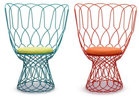 Emu Retrouve High Back Chair by Patricia Urquiola