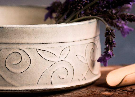 Ceramic bowl Ceramic serving Bowl large fruit bowl by FreeFolding