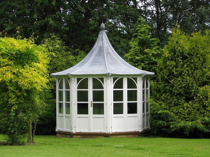 Edwardian style octagonal summerhouse by Garden Affairs.