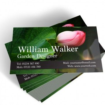 19 best Personalised Business Cards images on Pinterest   Business     Templated Business Card Florist Gardener 1