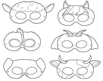 Clown Printable Coloring Masks clown mask by HappilyAfterDesigns