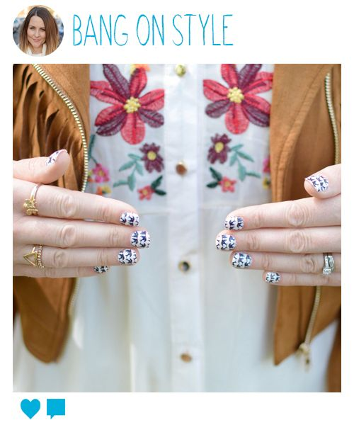 We just love how blogger Bang On Style has styled up her Primark fashion false nails!