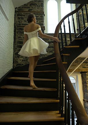 Adaline wedding  dress- Canadian fashion designer - Alice in blush Bridal
