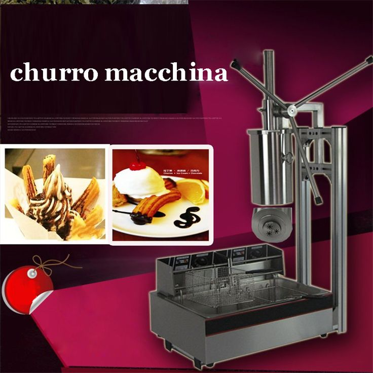 ==> [Free Shipping] Buy Best CH-8 5L Manual Churro Machine  Working Stand  12L Deep Fryer  700ml Churro Filler stainless steel Material Online with LOWEST Price | 32750144092