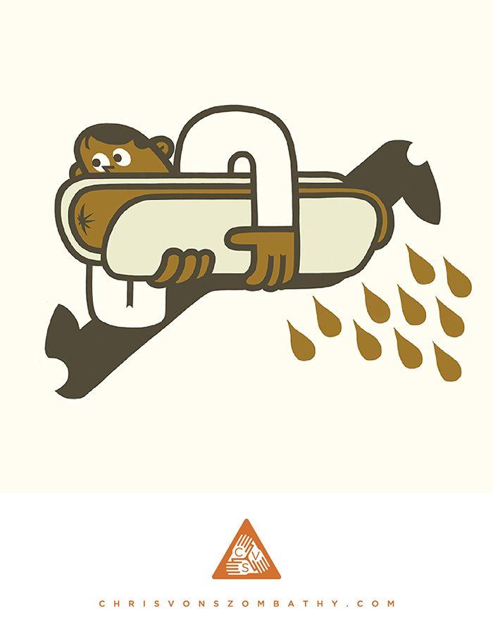 """""""Runner"""" an illustration by artist/designer Chris von Szombathy."""
