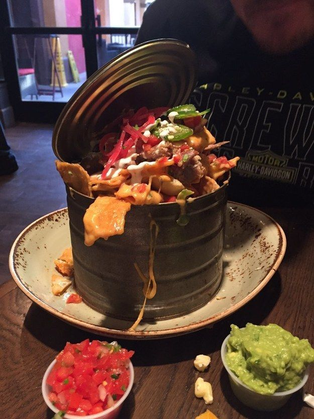 Or these garbage can nachos from Guy Fieri's El Burro Borracho in Las Vegas. | Where Are The Best Nachos In The World