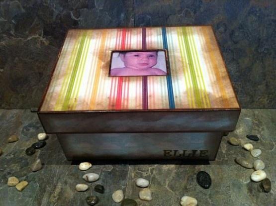 Rainbow box: Rainbow Baby, Rainbows Boxes, Babies, Trinketmemori Boxes, Custom Rainbows, Baby Memory Boxes, Baby Memories Boxes, Rainbows Baby, Angel Baby