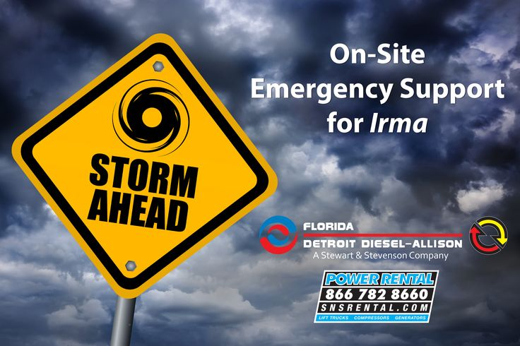 On-Site #Emergency Support for #Hurricane #Irma. Our Tier 1 Emergency Response mobile unit in #Florida will provide rental equipment resources that aid in recovery before and after the storm: emergency generators (15-2000 kW), diesel air compressors, rental delivery and pickup, and rental technicians available around the clock. Call S&S Power Rental today (866) 782-8660