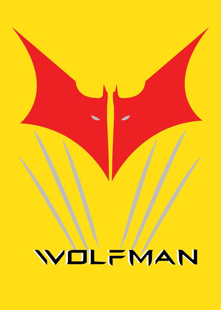 Logo mashup wolverine batman