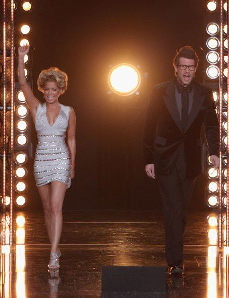 The moderators Daniel Hartwich and Sylvie van der Vaart perform during the 'Let's Dance' TV show at Coloneum on May 4, 2011 in Cologne, Germany.