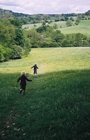 Country..every child should know the exhilaration of running and rolling in the grassy fields~❤