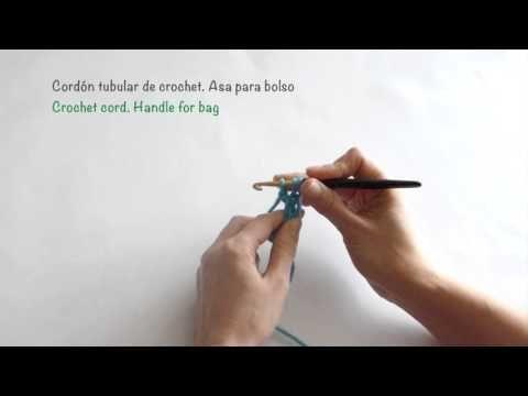 Cordon tubular de crochet. Asa para bolso / Crochet cord. Handle for bag - YouTube