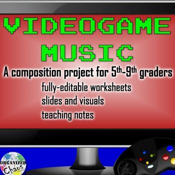 This video game music unit is a great way to engage upper elementary and middle school students and get them composing, listening, analyzing, and thinking about music! Students will learn about videogame composers by watching videos of interviews, analyze music from video games and discuss various aspects of music and sound in video games, and then create their