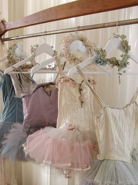 beautiful tutus and floral wreaths