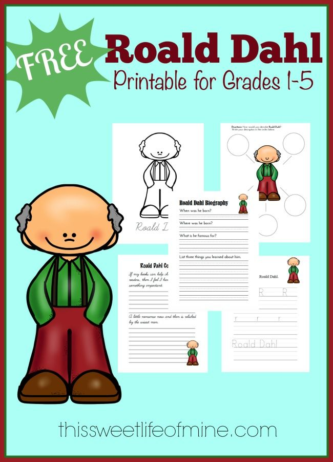 This FREE Ronald Dahl Unit Study is a fun new printable pack for your learners to use when learning about Roald Dahl. Inside this printable pack