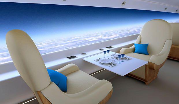 Embarquez à bord du jet privé du futur