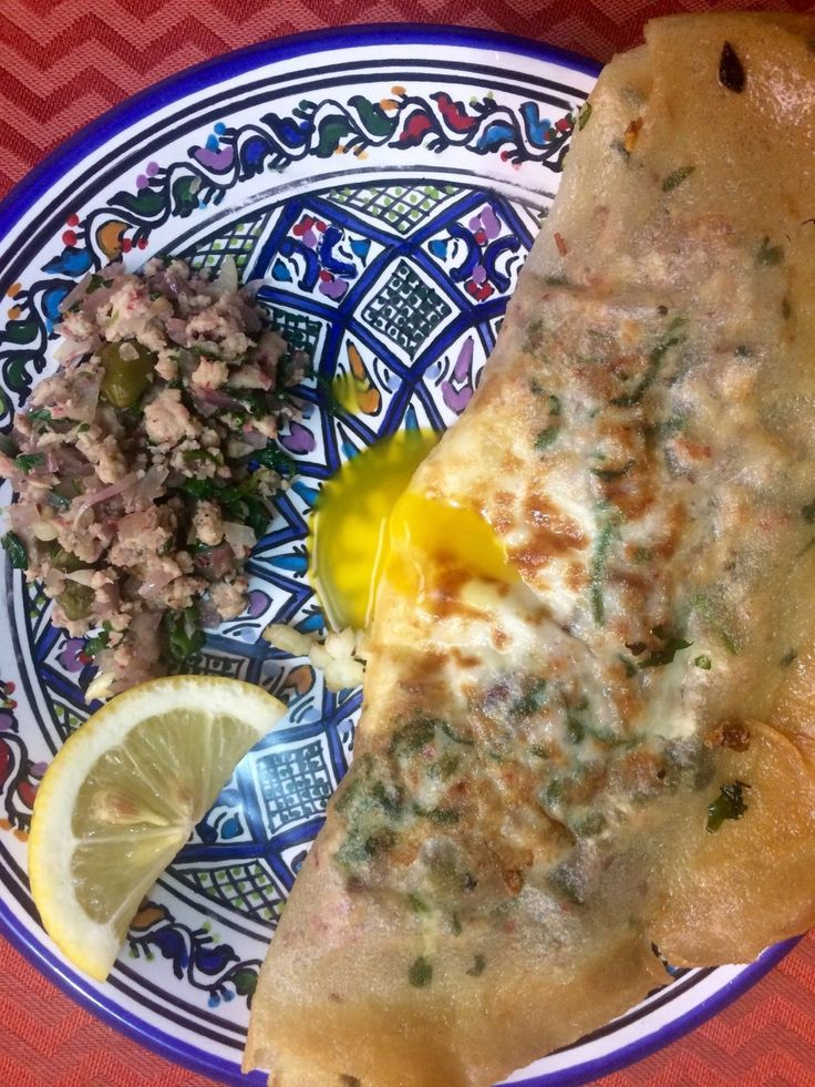Tunisian Brik with minced chicken and capers