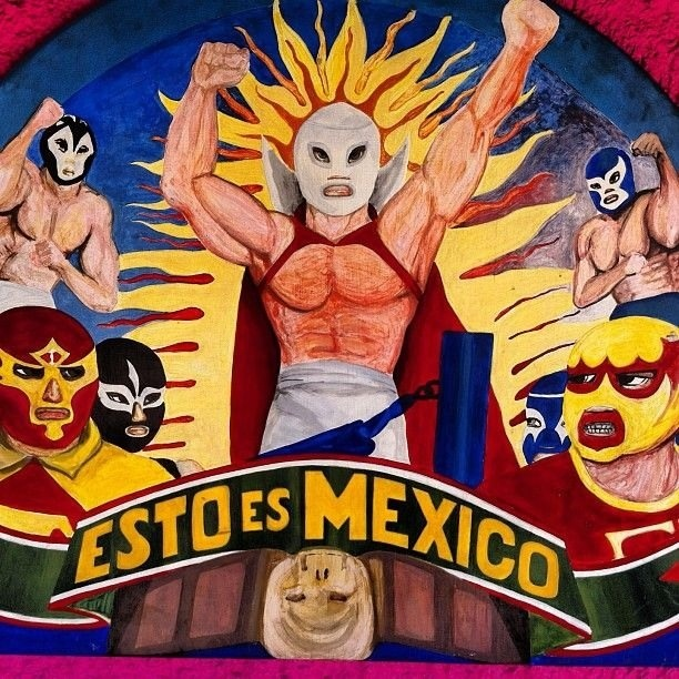 1000 images about lucha libre moe on pinterest search for Arte mural en mexico