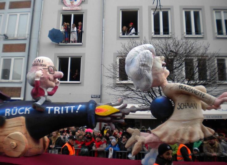 Carroza sobre el plagio de la ministra Annette Schavan, Carnaval de Düsseldorf